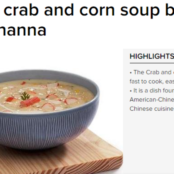 Creamy crab and corn soup by Chef Vikas Khanna (May 13, 2016) View Online