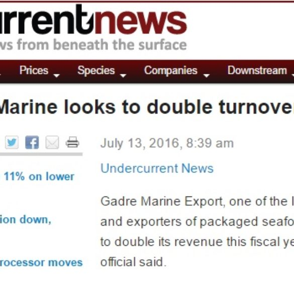 India's Gadre Marine looks to double turnover (Jul 14, 2016) View Online