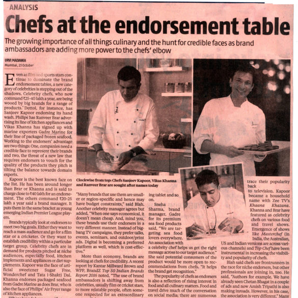 Chefs at the endorsement table (Oct 24, 2016) View Online