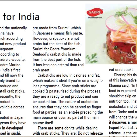 Crabsticks for India (Mar 30, 2016)