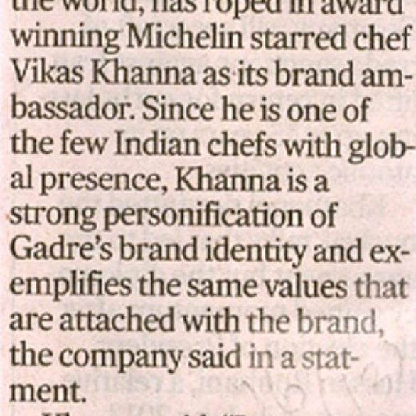 Khanna Is Gadre Brand Envoy (Oct 22, 2015)