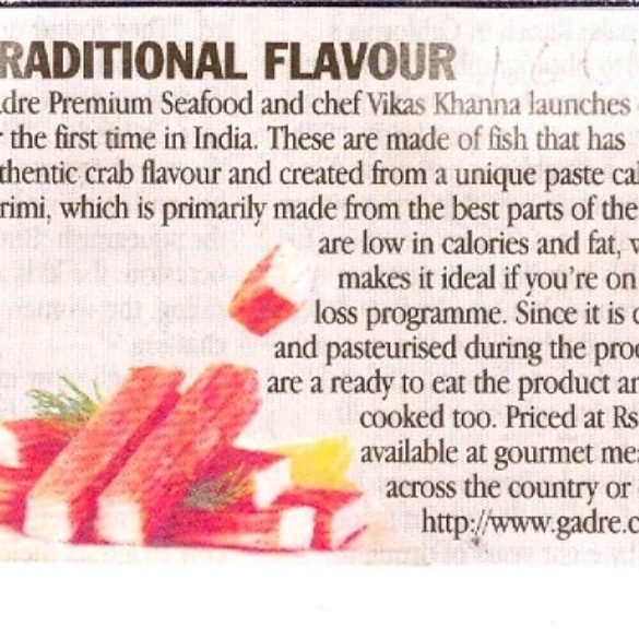 Traditional Flavour – Gadre Premium Seafood (Mar 15, 2016)