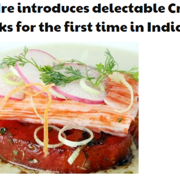 Gadre Premium Seafood joins hands with Vikas Khanna to launch Crab Sticks (Mar 31, 2016) View Online